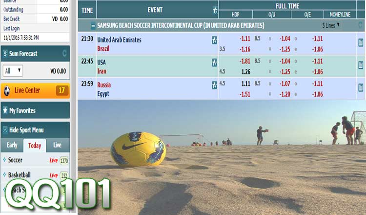 Beach soccer betting ll keep you up to