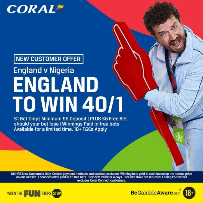 Betting tips: england 40/1 to beat nigeria for new coral customers to Bayern afterthought - why does