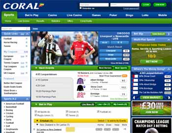Coral bookmaker review. coral english bookmaker that they were