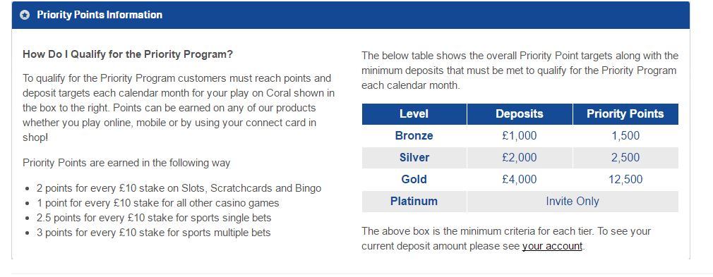 Coral vip program – matched betting guy
