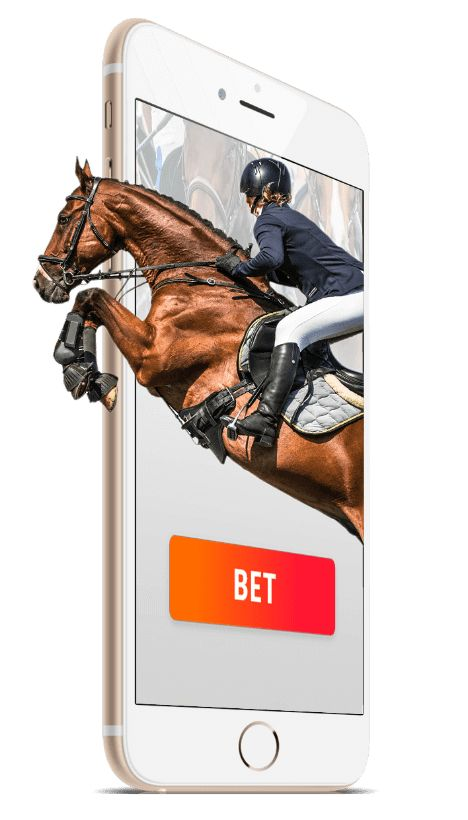 Horse racing with mobile bets