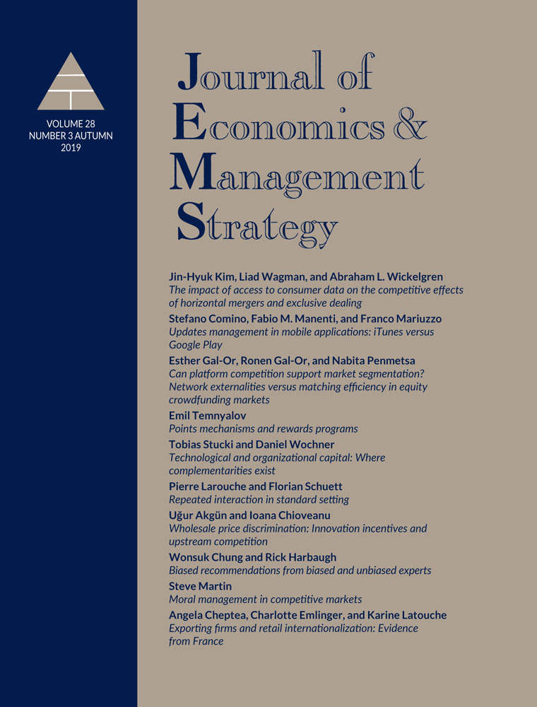 Platform competition: betfair and the uk market for sports betting – casadesus‐masanell – 2019 – journal of economics & management strategy – wiley online library