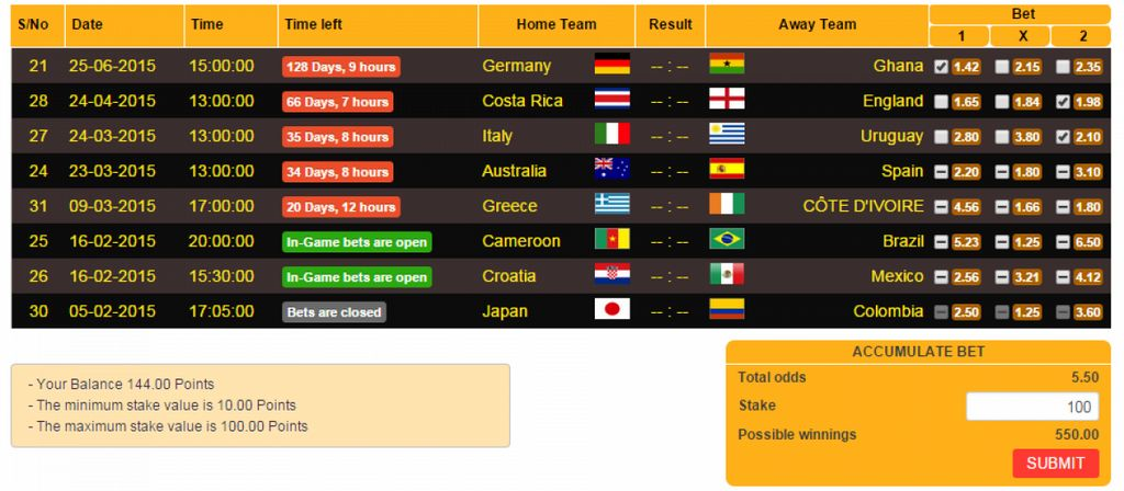 Soccer bet, by inovways – joomla extension directory