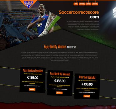 Soccer predictions website [over 200 expert tipsters]