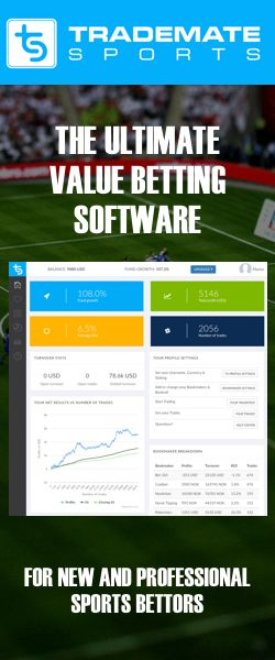 Trademate sports - arbitrage betting or value betting? On average, it would take